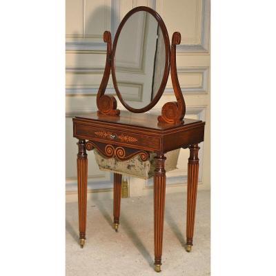 Vintage Charles X Worker Dressing Table