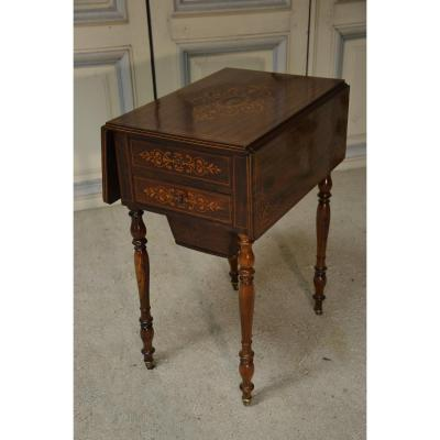 Charles X Period Rosewood Work Table