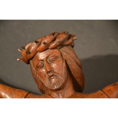 Crucifix En Noyer époque XIXe Siècle