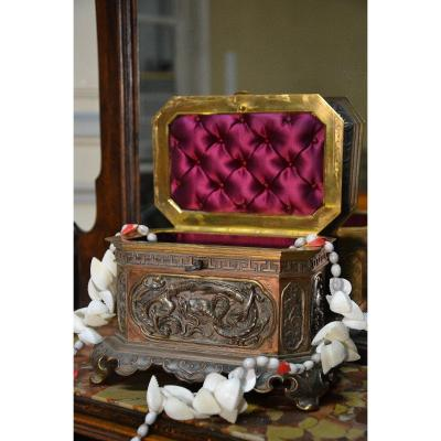 Jewelry Box Decorated With Chinese Scenes Nineteenth Century
