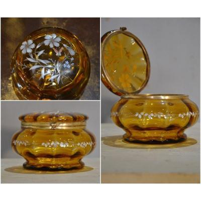 Bonbonnière En Cristal émaillé