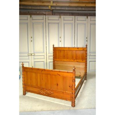 Large Bamboo Style Bed, Circa 1900