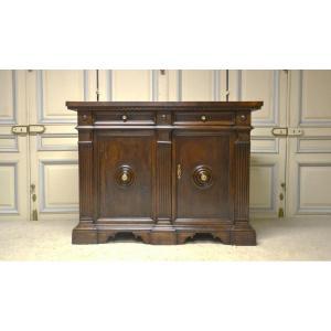 Tuscan Walnut Sideboard, Louis XIV Style, Nineteenth Century