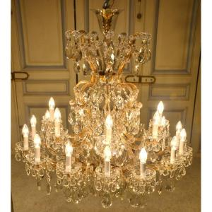 Large Marie Therese Chandelier In Bohemian Crystal