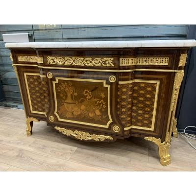Commode En Acajou De Style Louis XVI
