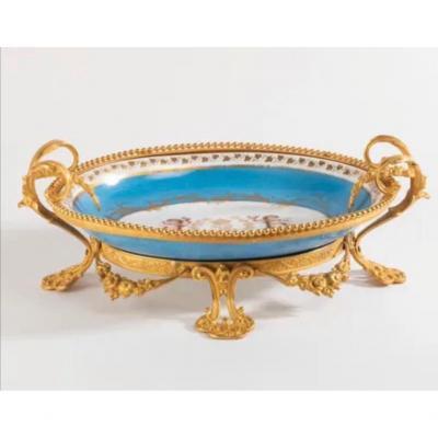 Sevres Coupe Creuse Ovale En Porcelaine