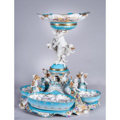 Sevres, Centre De Table En Porcelaine