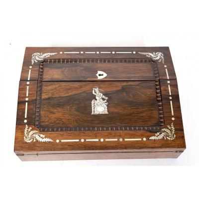 Travel Writing Case In Rosewood And Mother Of Pearl