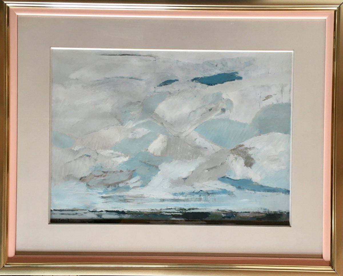Large Gouache By Gabriel Godard Born In 1930
