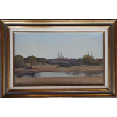 View Of Moulins Su Allier By Jean Pierre Stauffer
