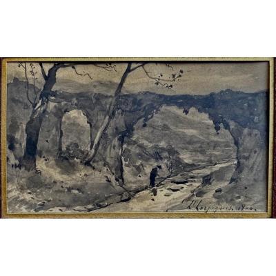 Landscape Henri-joseph Harpignies (1819-1916