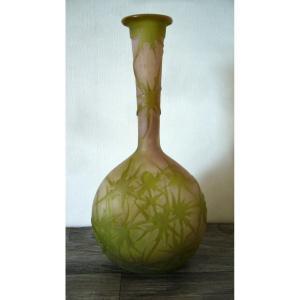 Vase  Gallé aux chardons