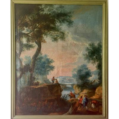 Charming 18th Century Lake Landscape