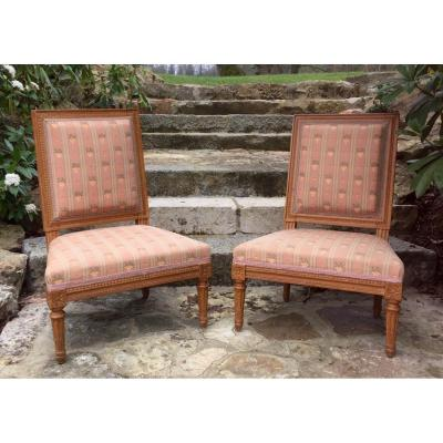Pair Of Louis XVI Style Fireside Chairs