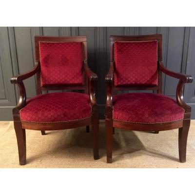 Pair Of Restoration Period Armchairs