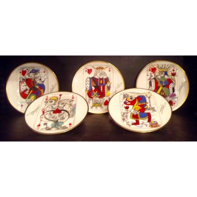 5 Numbered Puforcat And Salvador Dali Plates