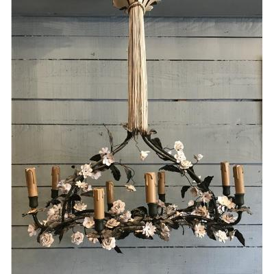 Porcelain Flower Chandelier