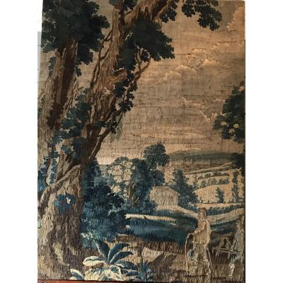 Important Fragment Of Tapestry At The Small Point Early Eighteenth