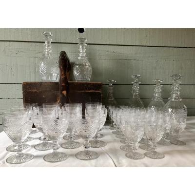 Saint Louis Glasses Service Model Trianon 49 Pieces