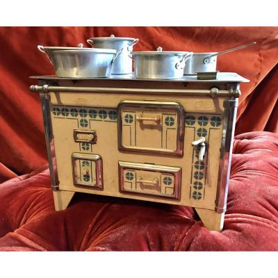 Painted Tin Doll Cooker