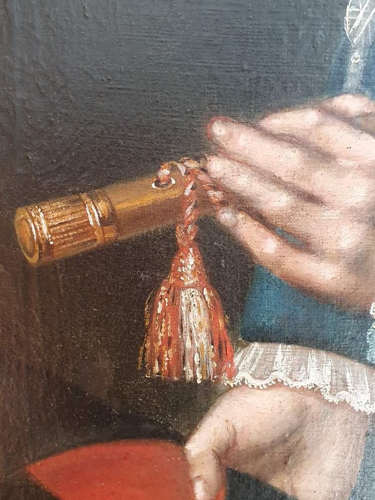 Portrait  d'Un Gentilhomme  Hst      XVIIIeme