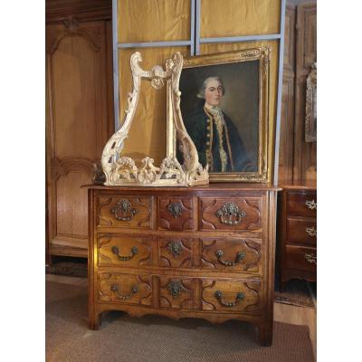 Commode Parisienne Louis XIV Eighteenth Period In Walnut.