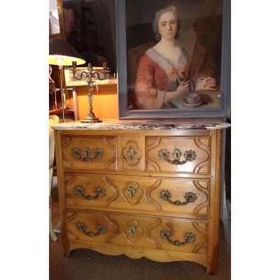Commode Louis XIV Eighteenth Period In Walnut