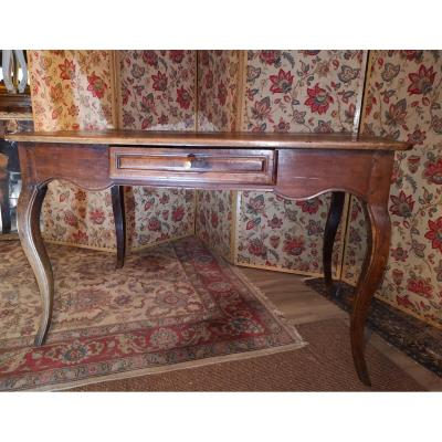 18th Century Desk Table In Walnut.