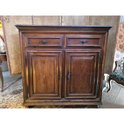 Low Buffet Louis XIV Period In Walnut