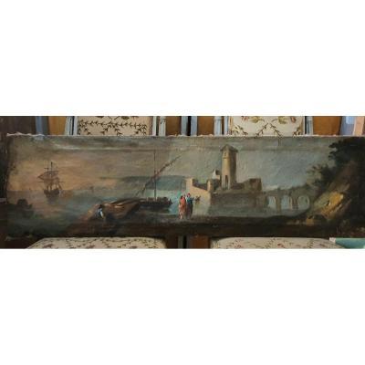 Trumeau De Boiserie Ou Haut De Porte époque Fin XVIIIeme
