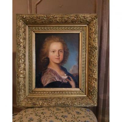 XIXth Period Portrait Oil On Canvas