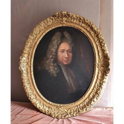 Portrait d'Homme époque Fin XVII ème