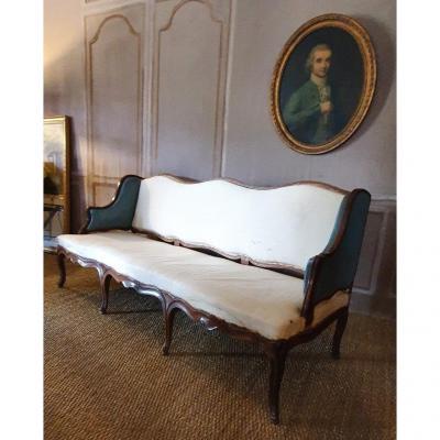 Canapé Louis XV d'époque XVIII ème
