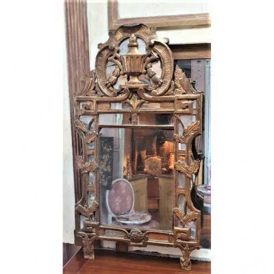 Miroir Provençal Dit De Beaucaire d'époque XVIIIème