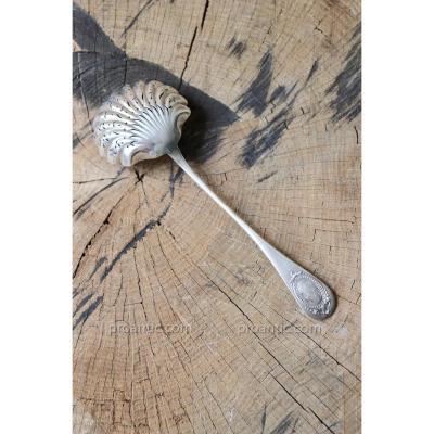 Shaker, Sugar Spoon. Sterling Silver 950. Roussel