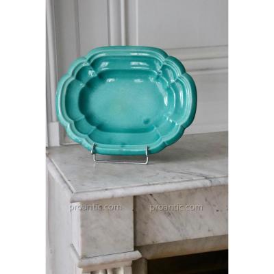 Lachenal. Green Celadon Ceramic Cup. 33 Cm