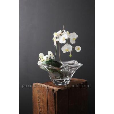 Daum 1950's Crystal Vase. 6kg. D 40 Cm