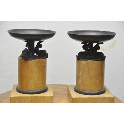 Cache Pot En Bronze Et Marbre