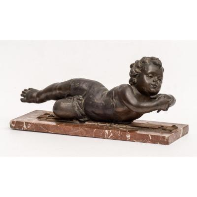 Putto Lying In Bronze
