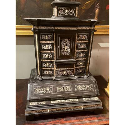 Cabinet In Ebonise And Ivory Wood
