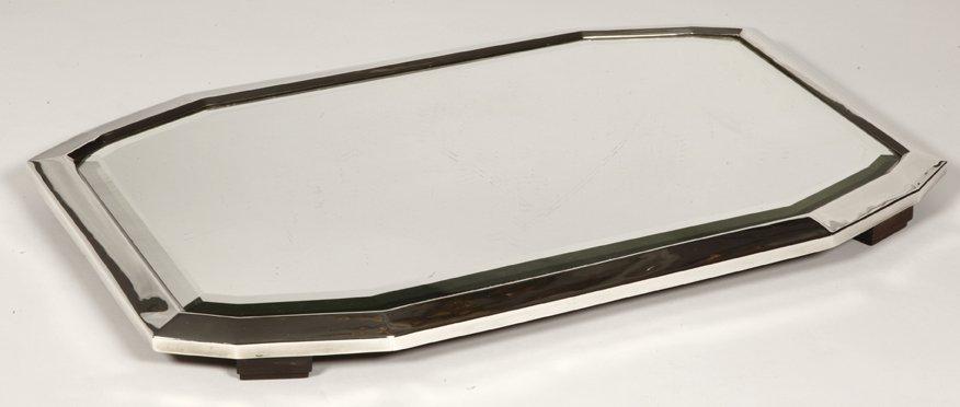 Orfèvre Henin  -  Surtout De Table En Argent Massif d'époque Art Deco