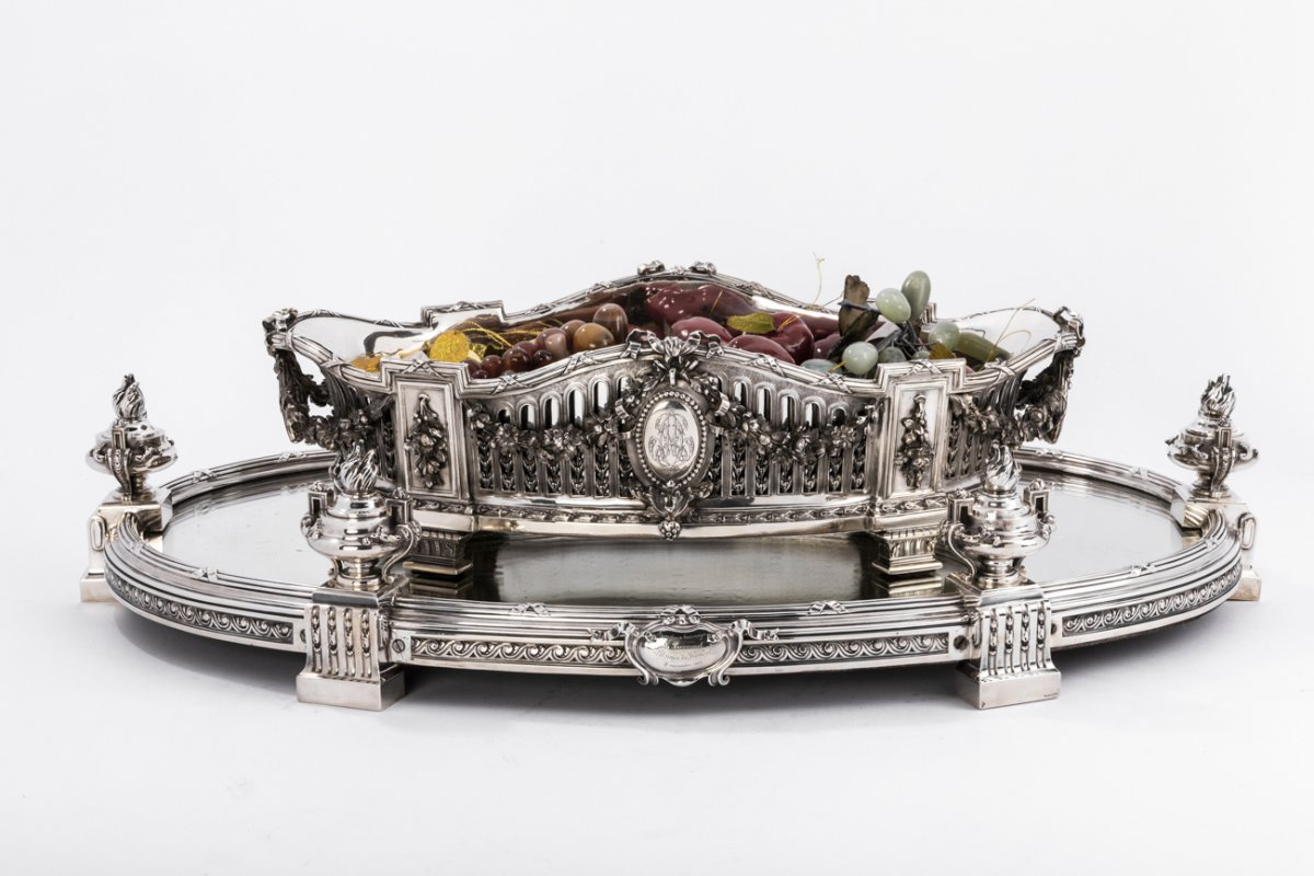 Aucoc & Tetard Table Center In Sterling Silver - Jardiniere Argent Massif 19 Eme