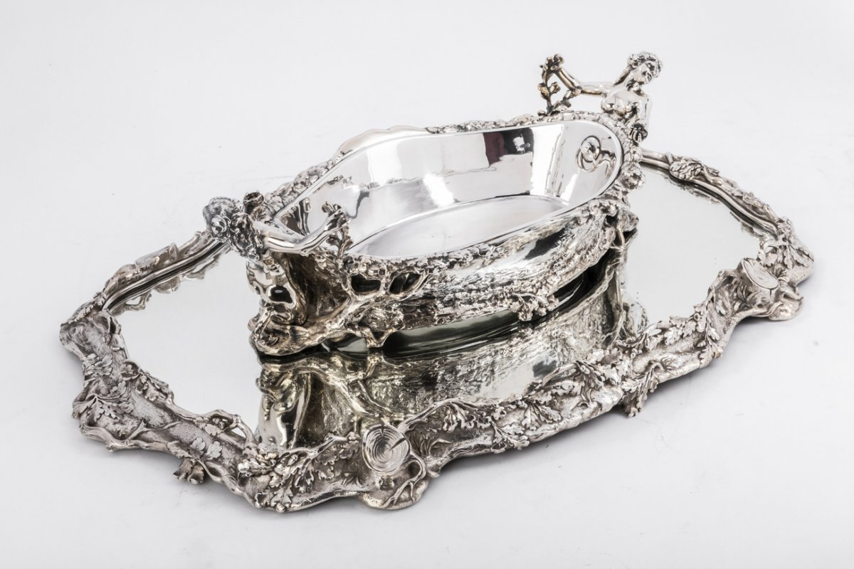 Silver Plated Bronze Centerpiece Known As
