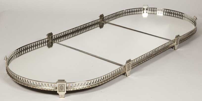 Especially Table In Silver Bronze And Mirrors Epoque Nineteenth