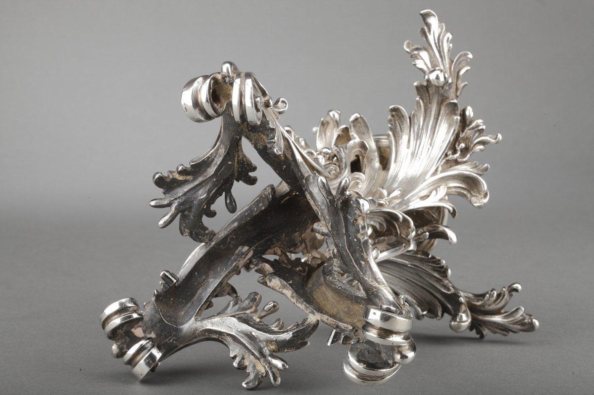 Orfèvre Cardeilhac - Garniture De Table 3 Coupes En Argent Massif Et Cristal XIXè-photo-8