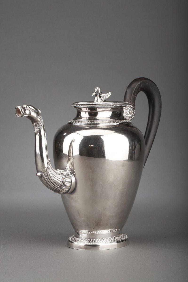 Goldsmith G. Keller - Teapot In Sterling Silver Nineteenth