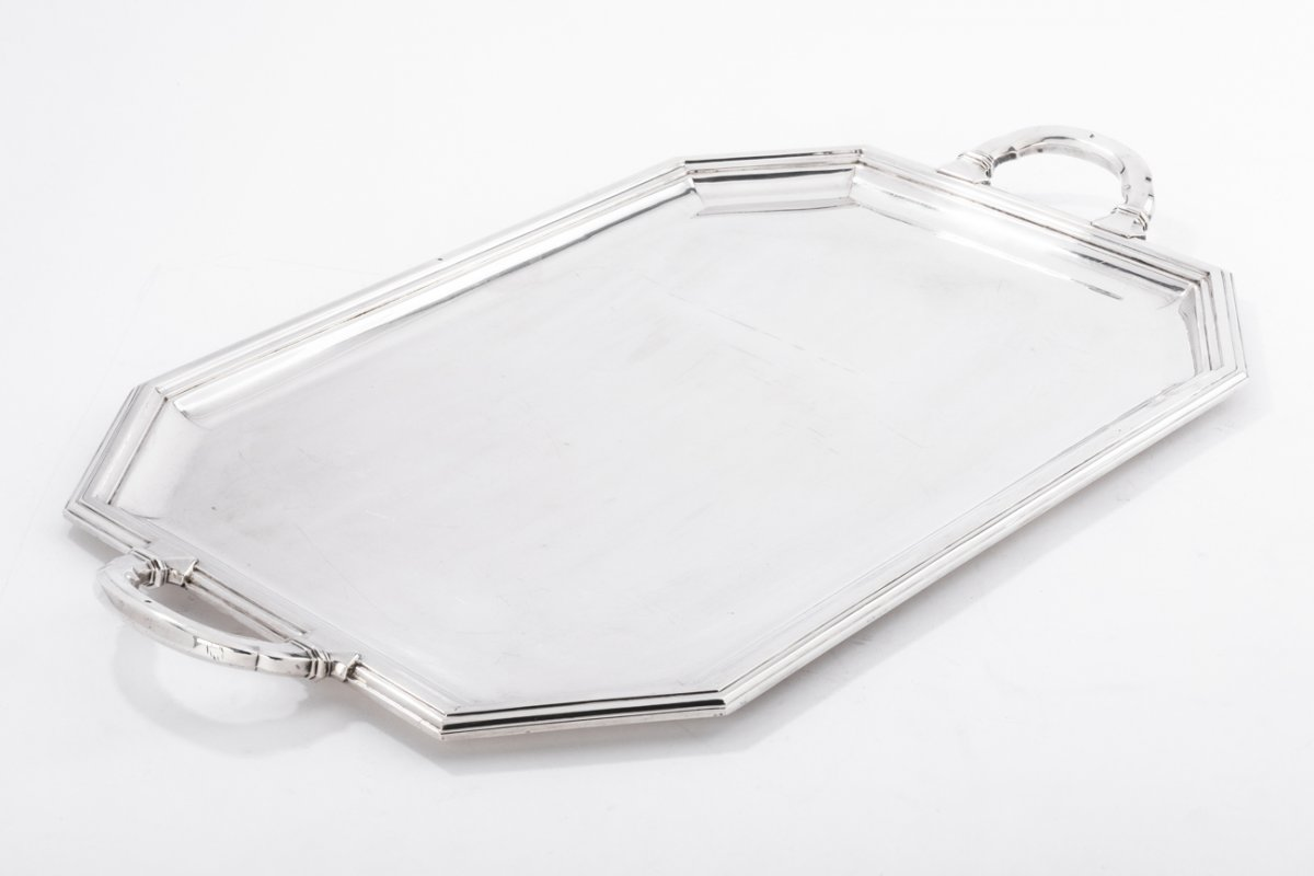 Goldsmith Christofle - Tray In Sterling Silver Art Deco Period Twentieth