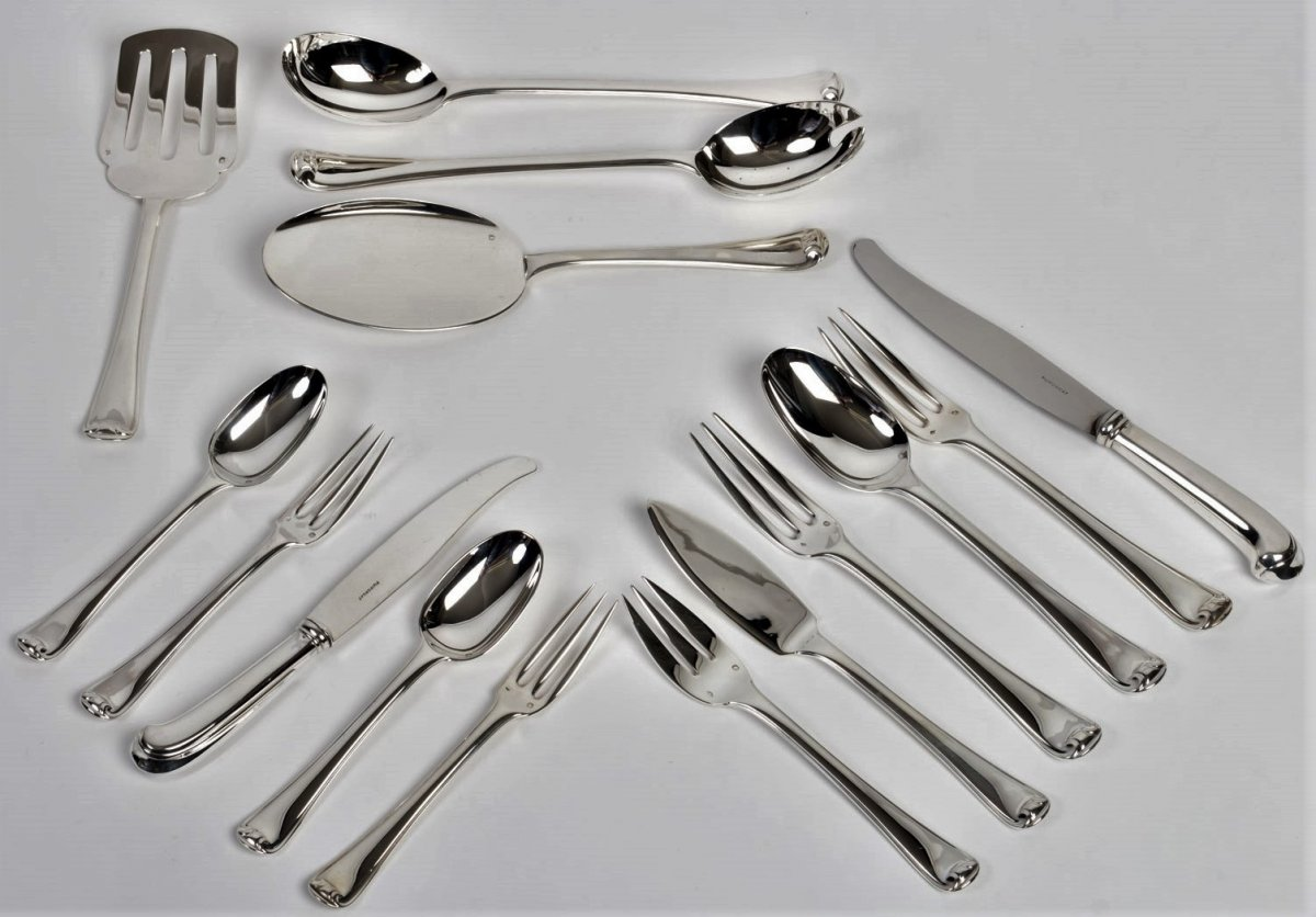 Puiforcat - Sterling Silver Housewife 158 Pieces 1930 Mazarin Period