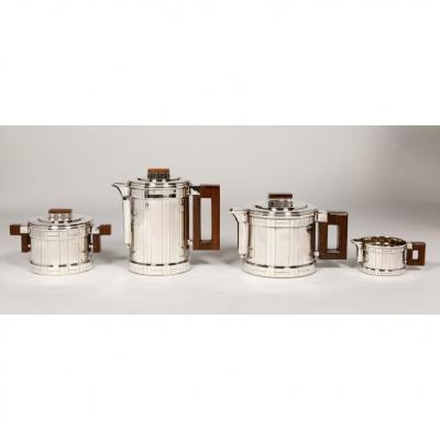 Orfèvre Roussel - Tea / Coffee Service In Sterling Silver Art Deco Period