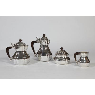 Goldsmith Georges Lecomte - Tea & Coffee Service In Art Deco Sterling Silver 1925